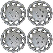 "4 Piece Set Hub Cap ABS Silver 17"" Inch Rim Wheel Skin Replica Cover Covers Caps"