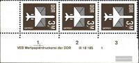 DDR 2868DV mit Druckvermerk (kompl.Ausg.) postfrisch 1984 Luftpost