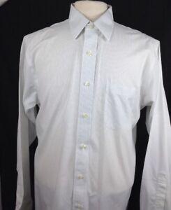 Brooks Brothers Men's Gray Striped Slim Fit Dress Shirt Non Iron 14.5-32 S/Cuff