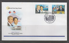 Philippine Stamps 2004 State Visit of USA Pres. Bush Complete set on FDC. Slight