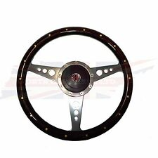 "New 14"" Wood Steering Wheel & Adaptor for MGA & MGB 1963-67 1"" Thick Rim"