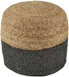 Signature Design by Ashley Sweed Valley Braided Round Pouf Ottoman, 19 x 19 &