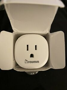 Braumm Smart WiFi Plug Outlet Works With Alexa & Google Assistant Voice Control
