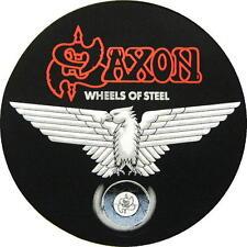 "Saxon dos écusson/backpatch # 1 ""wheels of steel"""
