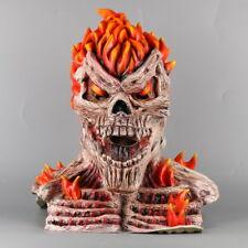 Skull Flame Mask Cosplay Fireman Ghost Rider Mask Halloween Masquerade Mask Prop