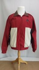 Vintage Izod Color Block Red White And Blue Jacket Wind Breaker Coat Size Med