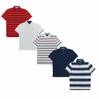 Tommy Hilfiger Mens Polo Shirt Mesh Collared Classic Fit Casual Flag Logo New Th