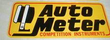 Auto Meter Car Racing Decal Sticker 9 1/8 X 3 3/4 Inches NASCAR NOS