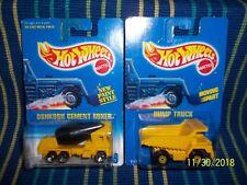 2- Hot Wheels Construction Vehicles Dump Truck & Oshkosh Cement Mixer