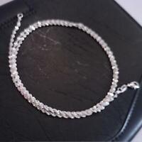 la mode vague d'eau femmes hommes 2 mm collier pendentif argenté chaîne