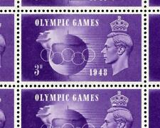 GB GVI 1948 Olympics 3d Hooked 3 & Crown Flaw Varieties