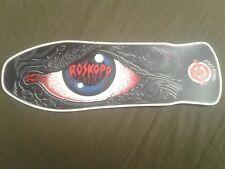 "Santa Cruz Rob Roskopp replica Skateboard Deck Shaped Sticker over 7"""
