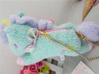 Sanrio Little Twin Stars Unicorn Blue Plush Wallet & Coin Purse & Kid's Bag NWT