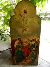 19C Large Antique Russia Russian Church  Ascension of God Icon 64 x 28 inch