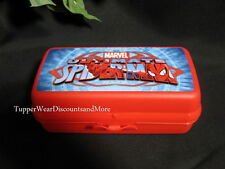 Tupperware NEW Marvel SPIDERMAN Rectangular Sandwich Keeper Lunch Hoagie Box