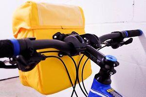 Waterproof Bicycle Handlebar Bag w/Map Holder,Shoulder Strap,Hi-Vis Yellow
