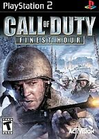 Call of Duty: Finest Hour (Sony PlayStation 2, 2004) Complete Black Label VG