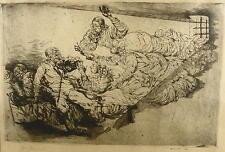 ALFRED KITZIG 1902 AHLEN - KREUTH / Radierung, handsigniert im Rahmen