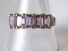 9Carat Yellow Gold Amethyst Ring Vintage Fine Jewellery