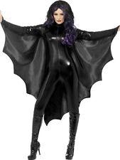 ADULT LADIES MENS VAMPIRE BAT WINGS BLACK HALLOWEEN FANCY DRESS
