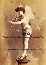 Old/Vintage Weird/Odd Sexy Burlesque Cupid Costume Woman Cabinet Card Photo