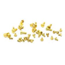 M1.2 M1.6 M2-M3 Slotted Brass Screws Stigma Head Slot Socket Copper Bolts 30Pcs