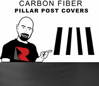 Fits Toyota Sequoia 01-07 Carbon Fiber B-Pillar Window Trim Covers Post Parts