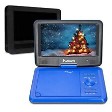 9 Inch Portable CD DVD Player with 5 Hours Rechargeable Battery USB