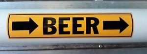 BEER Pipe marker vinyl sticker