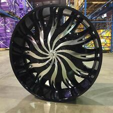 "32"" Inch BLACK & MACHINE Starr 458 Magnum Rims Wheels 22 24 26 28 30  Rockstarr"