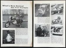 Jawa CZ 175 Dual-Control Motorcycle 1958 Lepzig Trade Fair article