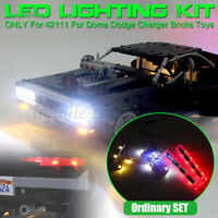 USB LED Light Lighting Kit For LEGO 42111 For Doms Dodge Charger Car Brick k