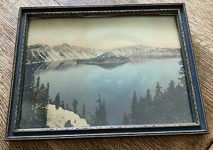 Vintage Photo National Park Original Frame Hand Colored