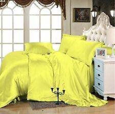 800 Tc Satin Silk Deep Pocket Scala Bedding Collection Yellow All Us Sizes