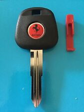 Toyota Red  MR2 Turbo Ferrari Replica Ignition Key With Uncut Blade  1991-2005