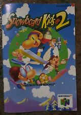SNOWBOARD KIDS 2, USER MANUAL, Nintendo 64 Manuals only!!, N64 AUS PAL