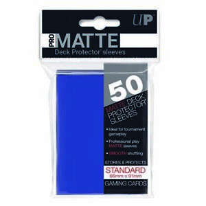 50 Ultra Pro Blue Standard Pro-Matte Deck Protectors. Trading Card Sleeves.