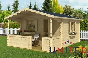 Stephen Garden Office Summer House Log Cabin Room with available insulated