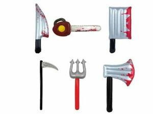 Halloween Handheld Props Inflatable Knife Bloody Horror Scary Halloween Party