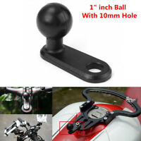 "1"" Ball Mount Base w/10mm Hole for Motorcycle Rearview Mirror/Phone Bracket Base"