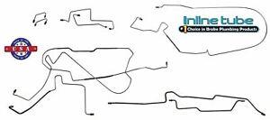 Fits 1997-06 Jeep Wrangler TJ Preformed Hydraulic Brake Line Set w/ABS Stainless