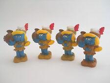 Varianten Indianer Schlumpfine aus Sammlung - rar ! - variations squaw smurf !