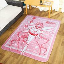 125X155Cm Sailor Moon Pink Fuzzy Coral Fleece Warm Blankets Bed Rug Soft Gift