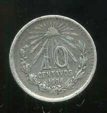 MEXIQUE  10 centavos 1906  ARGENT