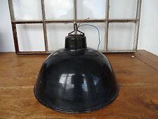 Q0690 Industrielampe - Fabriklampe - Art Deco - BAUHAUS - schwarz emailliert