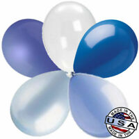 "52 pc 11"" Shades of Blue Garland Latex Balloon Party Decoration Baby Birthday"
