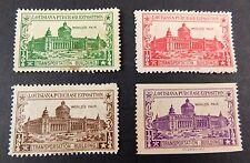 1904 St Louis World's Fair Poster Stamp Transportation Building 4 Color set WF14