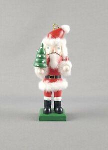 Wooden Santa Claus Nutcracker with Christmas Tree Ornament St Nick, Kris Kringle