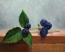 """""""Blackberry Branch""""  Oil  original painting. artist  Vladislav Shurganov"""