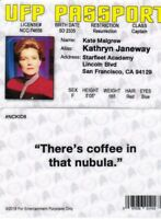Star Trek Captain Janeway KATE MULGREW  plastic fake ID card Drivers License